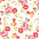 Beautiful floral seamless pattern with red roses Royalty Free Stock Photography
