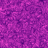 Beautiful  floral seamless pattern with swirls Royalty Free Stock Image