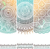 Beautiful floral set of banners Royalty Free Stock Images