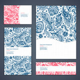 Beautiful floral set of banners Royalty Free Stock Photo