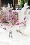 Beautiful floral table centrepiece Royalty Free Stock Photography