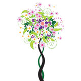 Beautiful floral tree Royalty Free Stock Image
