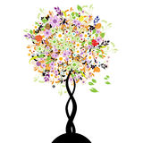 Beautiful floral tree vector illustration