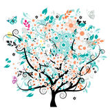 Beautiful floral tree Stock Images