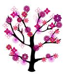 A beautiful floral tree vector Royalty Free Stock Photos