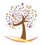 A beautiful Floral Tree Vector Royalty Free Stock Photo