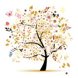 Beautiful floral tree for your design Royalty Free Stock Image