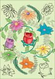 Beautiful Floral Vector Design Stock Images