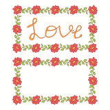 Beautiful floral vector love card Stock Images