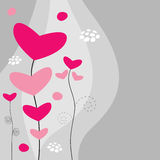 Beautiful floral wallpaper. Abstract beautiful floral wallpaper with hearts royalty free illustration