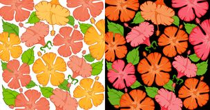 Beautiful floral wallpaper in Hawaiian style Stock Photo