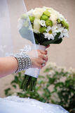 Beautiful floral wedding bouquet Stock Photo