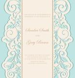 Beautiful floral wedding invitation card Stock Photos