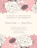 Beautiful floral wedding invitations Royalty Free Stock Photography