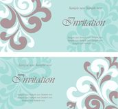 Beautiful floral wedding invitations Stock Photography