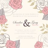 Beautiful floral wedding invitations. Royalty Free Stock Photo