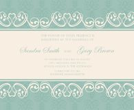Beautiful floral wedding invitations. Stock Images