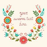 Beautiful floral wreath card Royalty Free Stock Photography