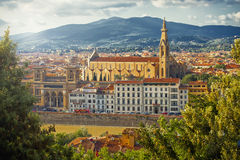 Beautiful Florence. Basilica Santa Croce in Florence, Italy royalty free stock photography