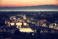 Beautiful Florence at night Royalty Free Stock Photos
