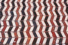 Beautiful Florentine old ceramic floor. Royalty Free Stock Photos