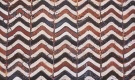 Beautiful Florentine old ceramic floor. Stock Photo