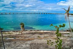 Beautiful Florida Keys beach after being destroyed by Hurricane Irma. Beautiful Florida Keys beach in recovery after being destroyed by Hurricane Irma in 2017 Stock Photo