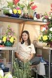 Beautiful florist at work Stock Image