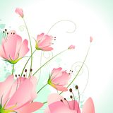 Beautiful Flower. Illustration of beautiful flower on abstract background Stock Images