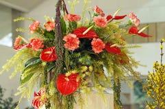 Beautiful flower arrangement. Closeup photo of beautiful flower arrangement Stock Image