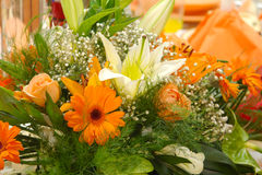 Beautiful flower arrangement. Beautiful floral arrangement with colorful flowers Stock Photo