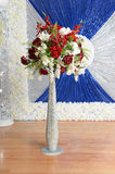 Beautiful Flower Arrangement for Special Celebrations. Beautiful flower arrangements for special celebrations with sequence cloths royalty free stock photography