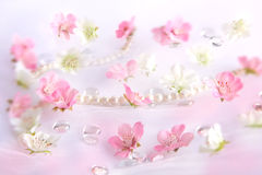 Beautiful flower background. Beautiful white and pink flower background stock images