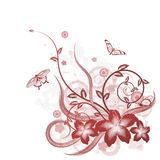 Beautiful flower background motif royalty free illustration