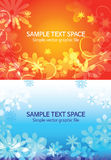 Beautiful  flower background.Two color. Beautiful flower background, vector illustration Stock Images