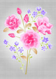 Beautiful flower bouquet design. Simple background Royalty Free Stock Images