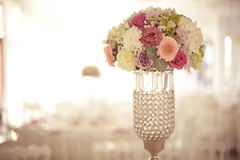 Beautiful flower bouquet in vase Royalty Free Stock Photography
