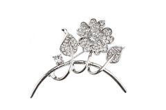Beautiful flower brooch Stock Photography