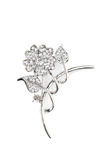 Beautiful flower brooch Royalty Free Stock Photography