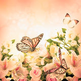 Beautiful flower and butterfly Stock Image