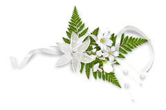 Beautiful flower composition, wedding buttonhole Royalty Free Stock Images