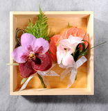 Beautiful flower corsage Stock Images