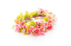Beautiful flower crown. Isolated on white background stock photo
