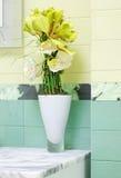 Beautiful flower decor in bathroon design Stock Photography
