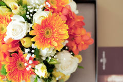 Beautiful flower decoration table arrangement Royalty Free Stock Image