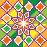 Beautiful flower and diamonds, pattern. Stock Image