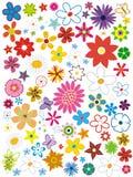 Beautiful flower elements set Royalty Free Stock Photos