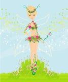 Beautiful flower fairy. Illustration Royalty Free Stock Photos