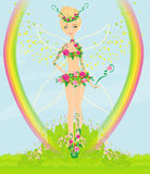 Beautiful flower fairy Stock Photos
