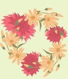 Flower, floral, pattern, red, rose, flowers, abstract, design, wallpaper, seamless, illustration, nature, pink, art, leaf, decorat vector illustration